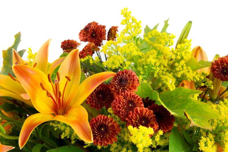 Detail van een bos van de herfstbloemen royalty-vrije stock foto's