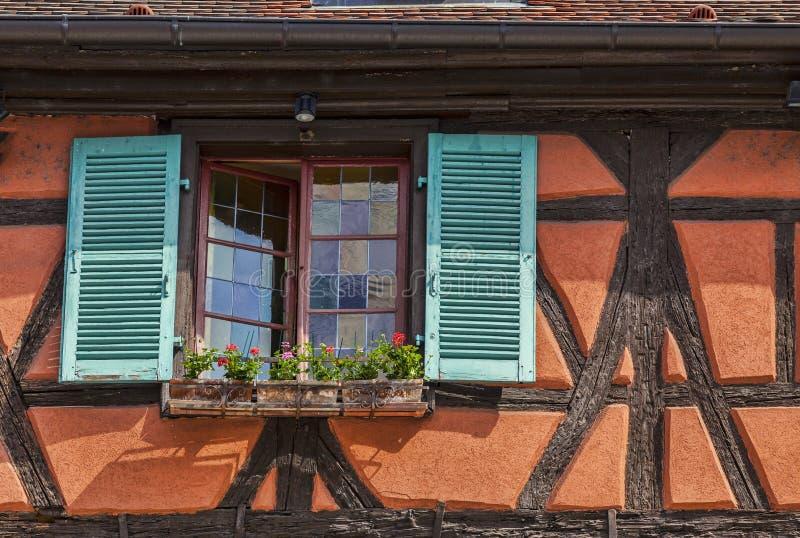 Detail Van Een Elzassisch Huis Stock Foto