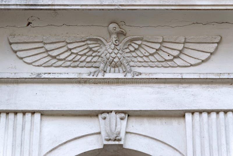 Detail van een gevel van een historisch gebouw royalty-vrije stock afbeelding