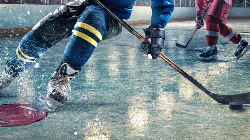 Detail van een hockeyspeler stock fotografie