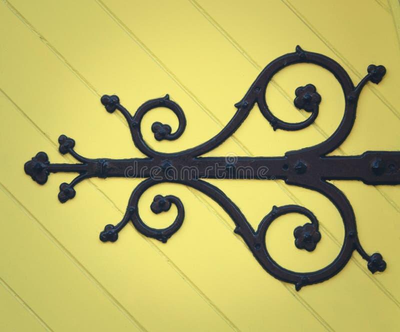 Detail van een Kerkdeur stock afbeelding