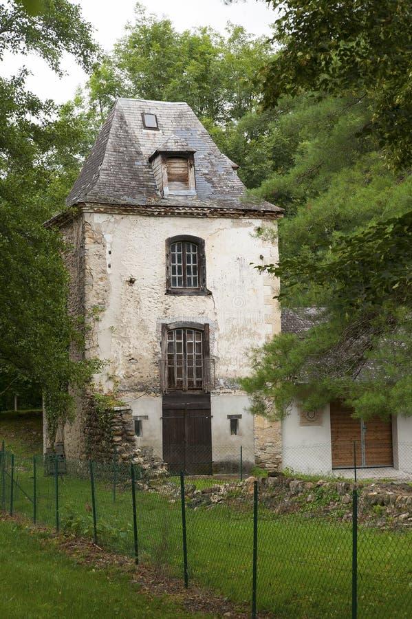 Detail van een middeleeuws gebouw stock afbeelding