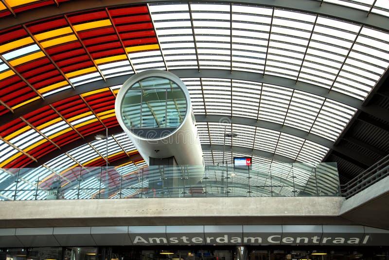 Detail van een modern gebouw in Amsterdam royalty-vrije stock foto