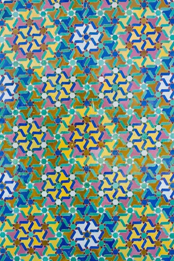 Detail van een moskee in Casablanca royalty-vrije illustratie