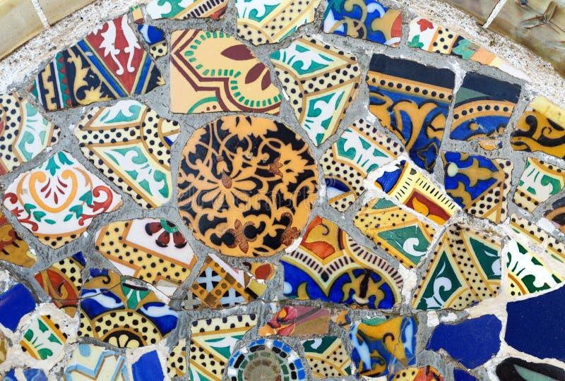 Detail van een mozaïek op de muur stock afbeeldingen