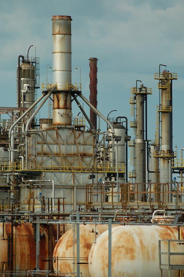 Detail van een raffinaderij 4 stock afbeelding