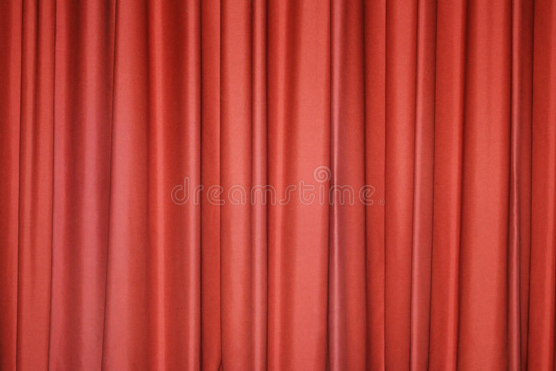 Rood gordijn stock fotografie