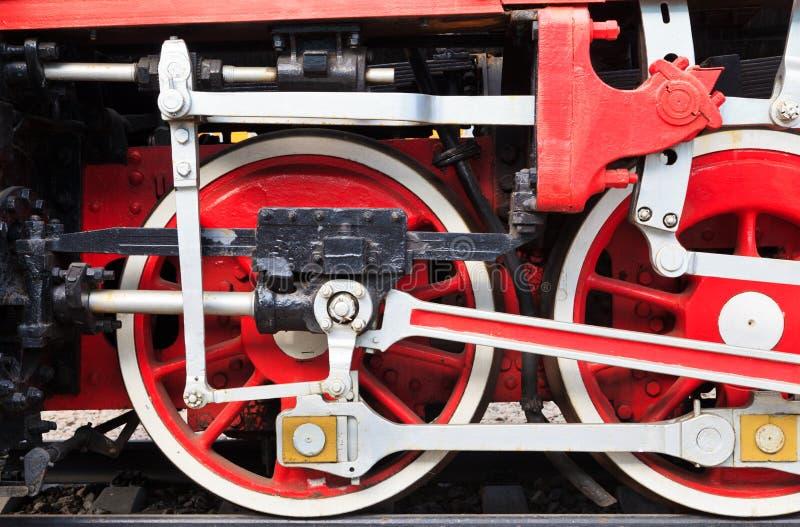 Detail van een stoomtrein stock fotografie