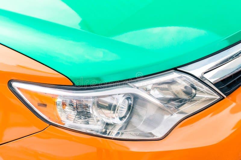 Detail van een taxiauto in Toronto stock fotografie