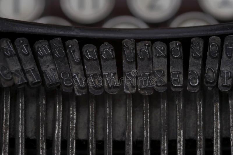 Detail van een Uitstekende Schrijfmachine royalty-vrije stock fotografie