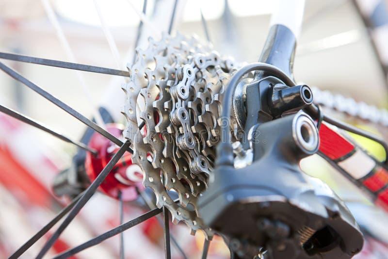 Detail van fietsdelen stock afbeelding