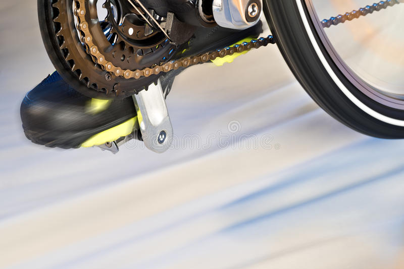Detail van Front Derailleur And Cycle Track royalty-vrije stock foto's