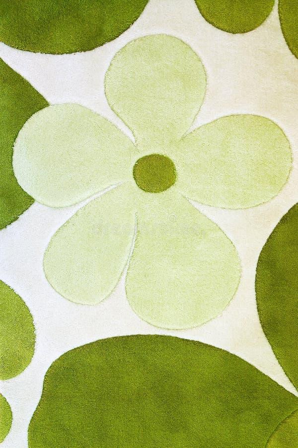 Detail van groen tapijt stock fotografie