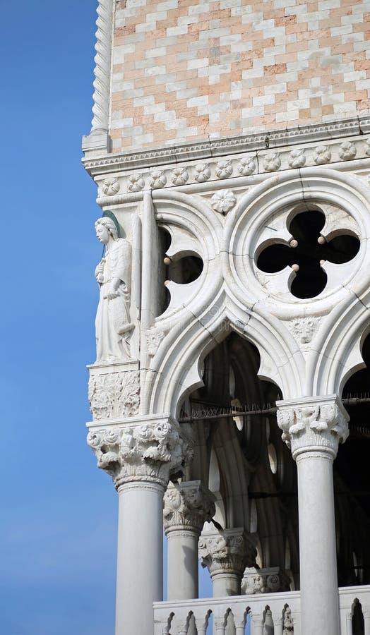 Detail van Hertogelijk Paleis in Venetië Italië royalty-vrije stock afbeeldingen