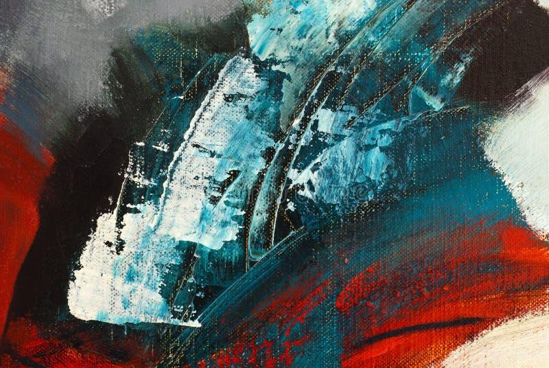 Detail van het abstracte acryl schilderen zonder titel royalty-vrije illustratie