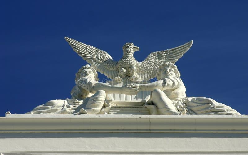 Detail van het Capitool van de Staat stock afbeelding