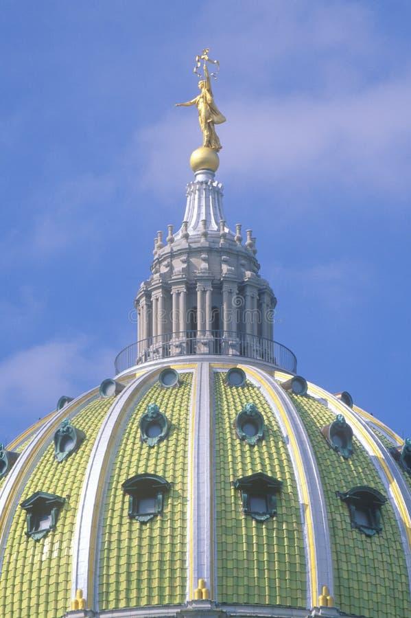 Detail van het Capitool van de Staat van Pennsylvania stock fotografie