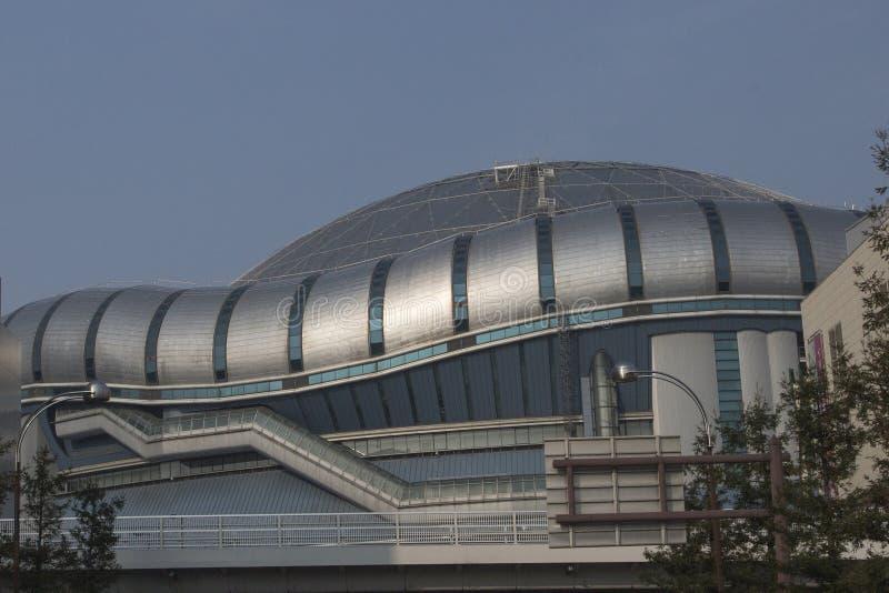 Detail van het Domo-paleis van honkbalsporten in Osaka stock fotografie