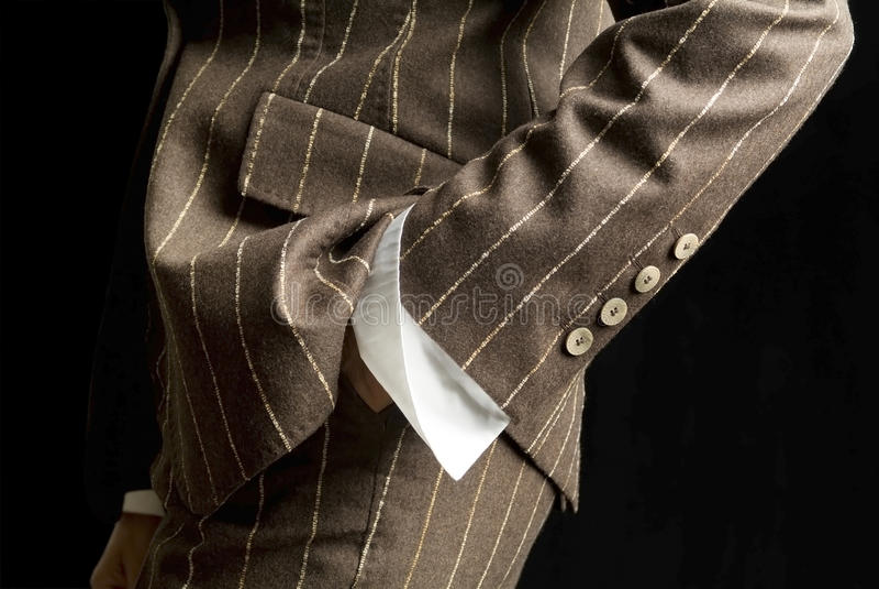 Detail van het gemaakte jasje van de vrouw royalty-vrije stock foto