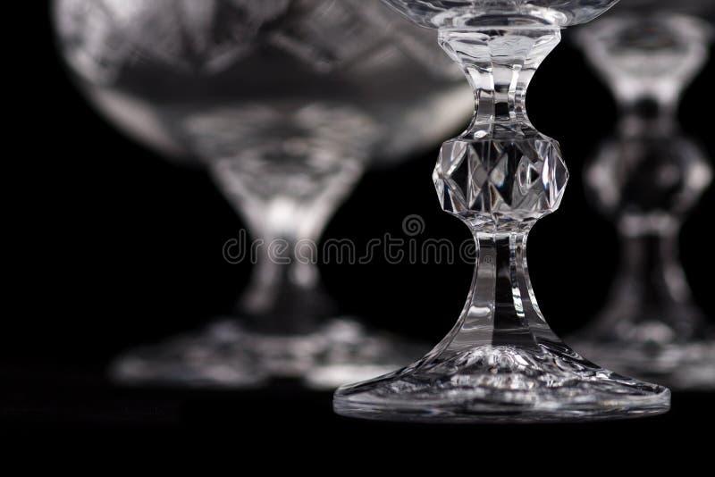 Detail van het glas van de kristalbesnoeiing royalty-vrije stock afbeeldingen
