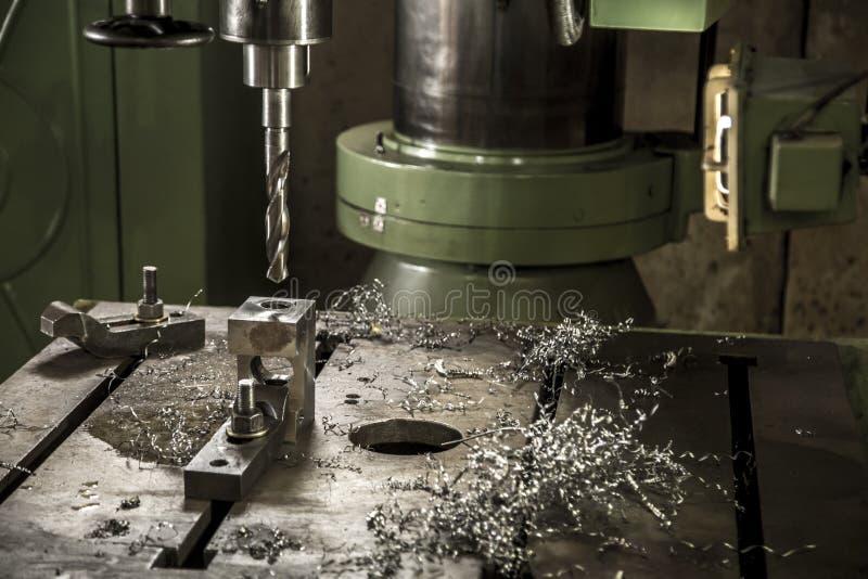 Detail van het het hulpmiddelstaal van de boringsmachine het industriële stock foto's