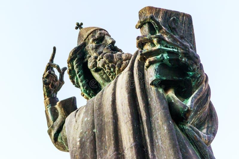 Detail van het monument aan Gregory van Nin in Spleet, Kroatië royalty-vrije stock foto