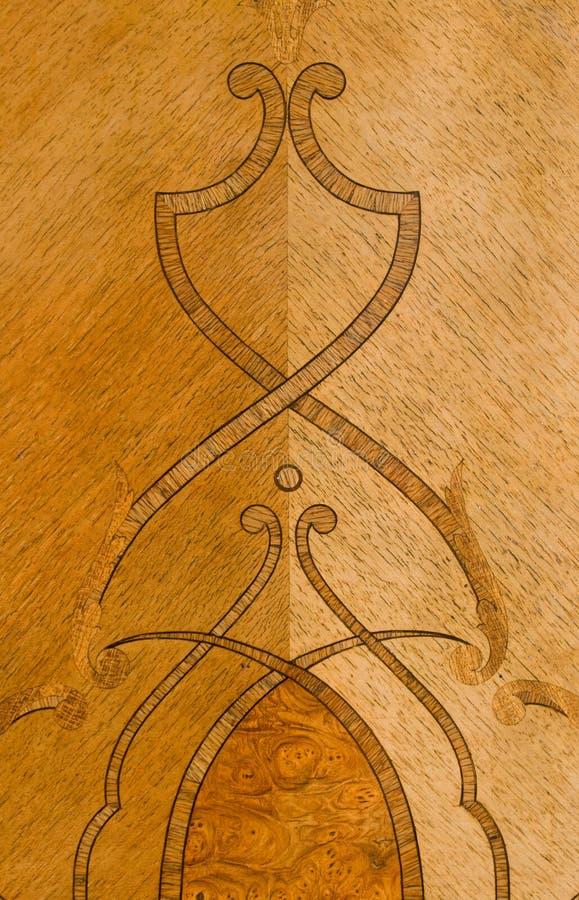 Detail van het oude meubilair stock afbeelding