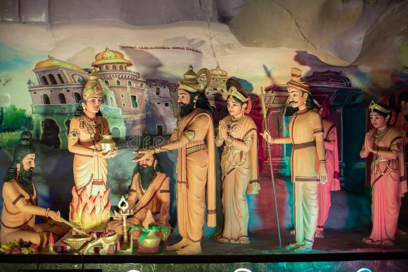 Detail van het Ramayana-Hol, een deel van de beroemde Batu-Holen royalty-vrije stock fotografie