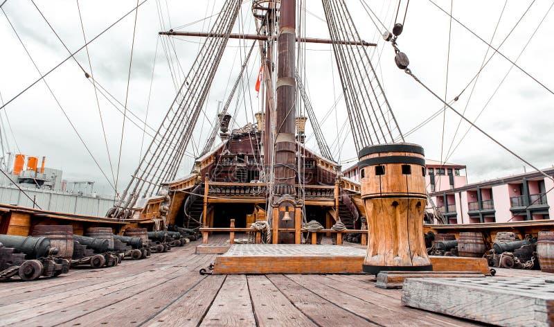 Detail van het schip van Galeone Neptunus royalty-vrije stock foto