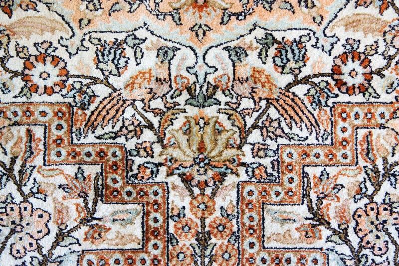 Detail van het Tapijt van Isphahan van de Zijde stock fotografie