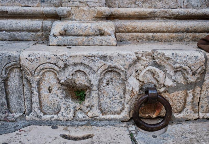 Detail van Historisch Roman Stonework, Kroatië stock afbeeldingen