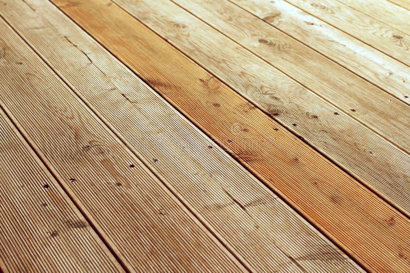 Detail van houten terras royalty-vrije stock afbeeldingen