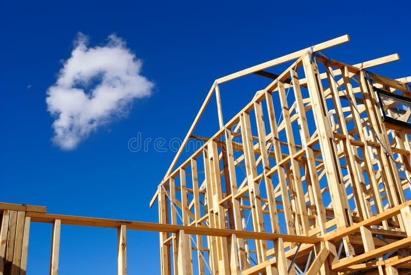 Detail van huisframe in aanbouw royalty-vrije stock foto's