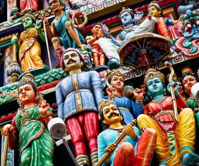 Detail van Indische tempel stock afbeeldingen