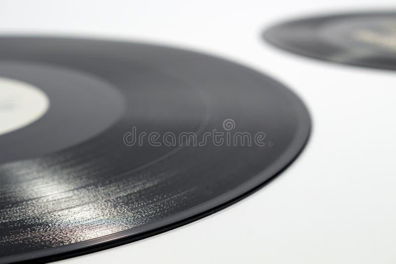 Detail van ingeschreven spiraalvormige groef van een vinylverslag royalty-vrije stock foto