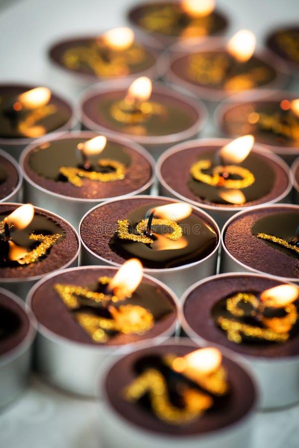 Detail van kaarsen van de kalender van de Komst royalty-vrije stock foto