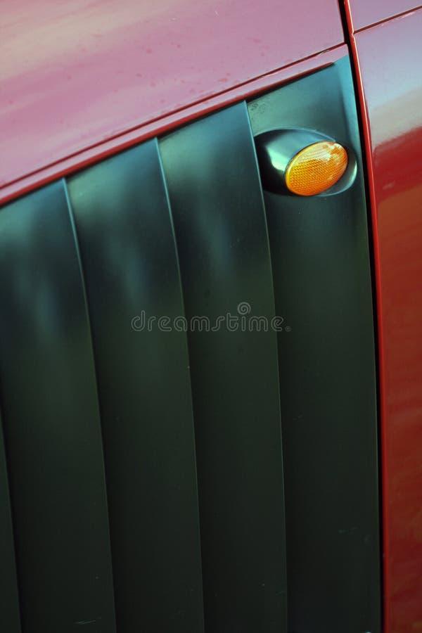 Detail van klassieke Britse auto stock foto