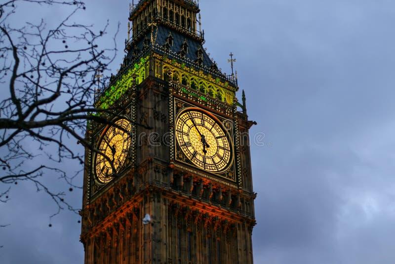 Detail van klok op Big Ben in Londen royalty-vrije stock foto's
