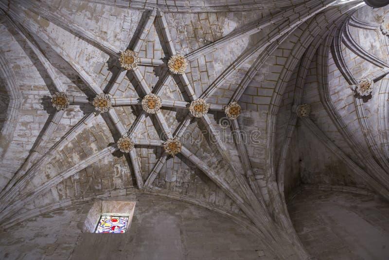 Detail van kluis van Kathedraal van Onze Dame van Gunst en Heilige Juli royalty-vrije stock afbeelding