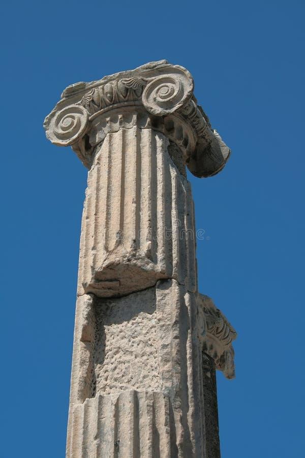 Detail van kolommen die van het oude kasteel blijven royalty-vrije stock foto
