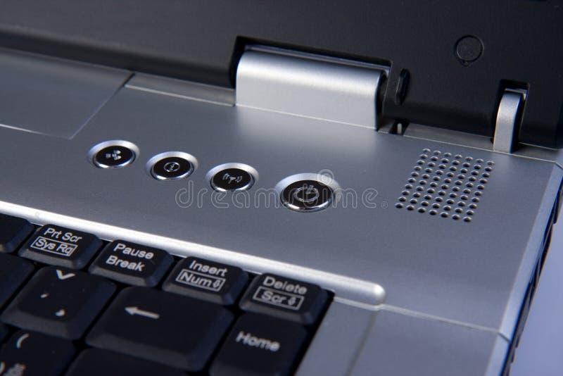 Detail van laptop stock afbeeldingen