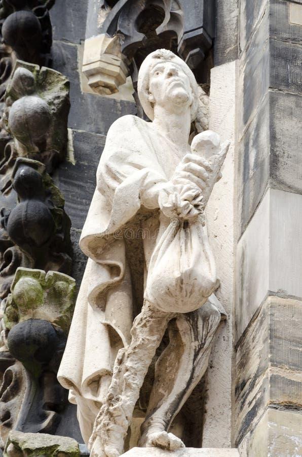 Detail van Marktkirche, Hanover, Duitsland, Europa stock afbeeldingen