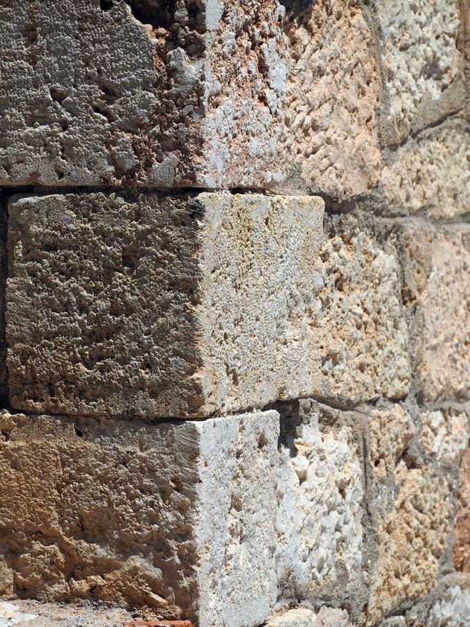 Detail van Metselwerk bij de Oude Monemvasia-Bouw, Griekenland royalty-vrije stock foto's