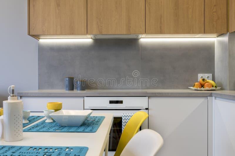 Detail van modern keuken binnenlands ontwerp stock afbeeldingen