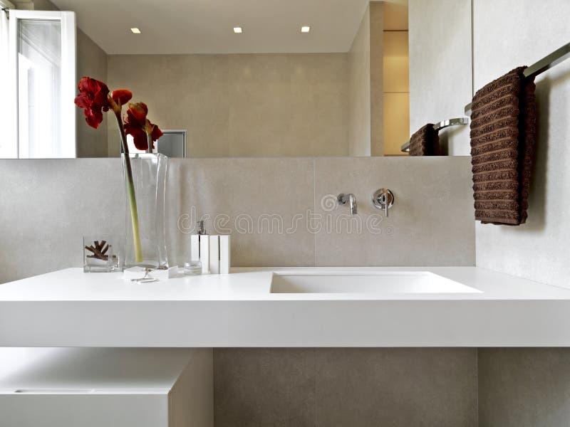 Detail van moderne badkamers stock afbeelding