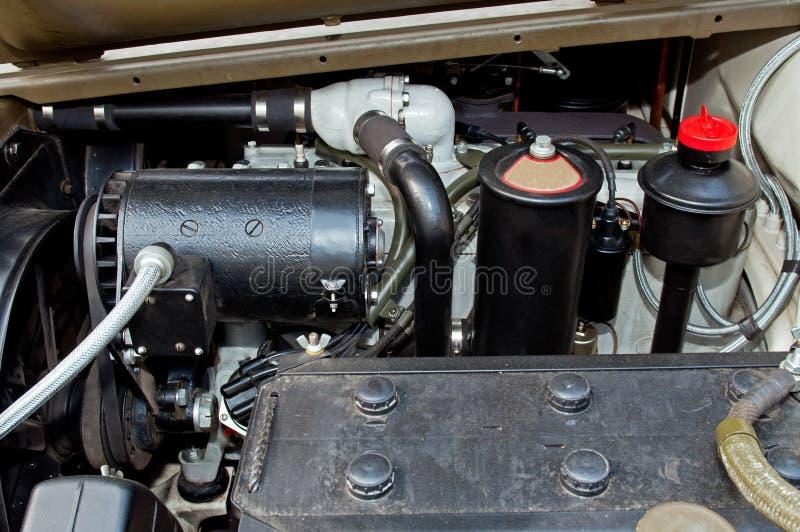 Detail van Motor van een auto stock afbeelding