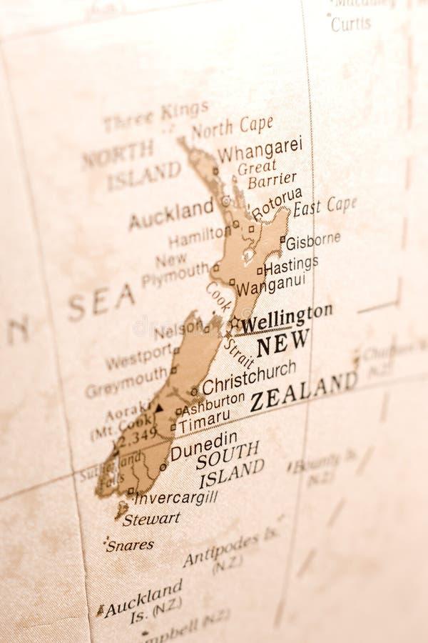 Detail van Nieuw Zeeland op een Bol royalty-vrije stock afbeeldingen