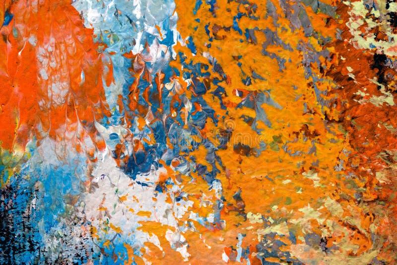 Detail van olieverfschilderij stock illustratie
