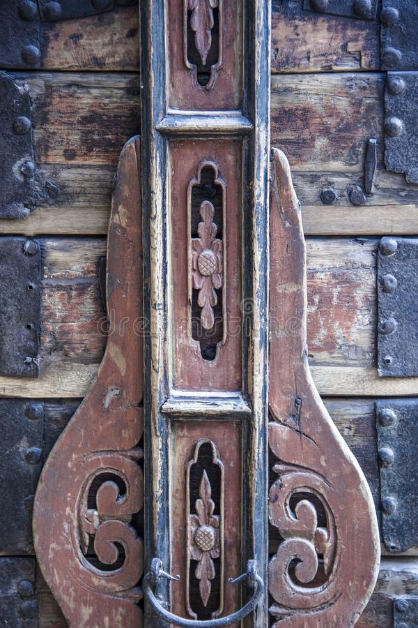 Detail van oud meubilair stock afbeelding