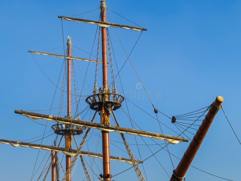 Detail van oud varend schip royalty-vrije stock afbeelding